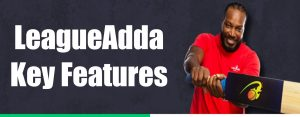 LeagueAdda Important features: