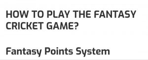 LeagueAdda Fantasy Points System