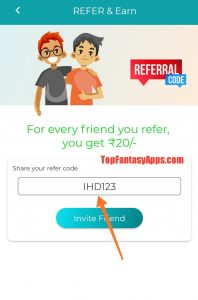 Fantasy Power-11 Referral Code & Share And Earn 10% Lifetime
