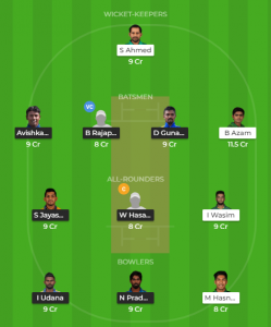 PAK Vs SLDream11 Team for small league