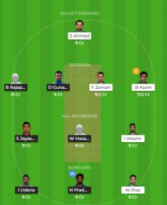 PAK Vs SLDream11 Team for Grand league