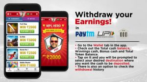 mpl withdraw earning