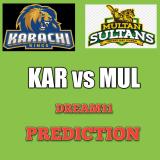 KAR vs MUL Dream11 Team Prediction PSL 19th Match