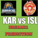 KAR vs ISL Dream11 Team Prediction PSL 28th Match