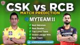 CSK vs RCB MyTeam11 Fantasy Team Prediction Match-25 IPL 2020