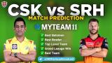 CSK vs SRH MyTeam11 Fantasy Team Prediction Match-14 IPL 2020