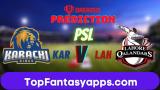 KAR vs LAH Dream11 Team Prediction Final PSL 2020 (100% Winning Team)