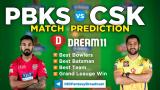PBKS vs CSK Dream11 Team Prediction 8th Match IPL 2021 (100% Winning Team)