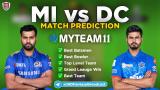 DC vs MI MyTeam11 Fantasy Team Prediction Match-51 IPL 2020