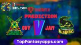 GUY vs JAM Dream11 Team Prediction For 12th Match CPL 2020 (100% Winning Team)