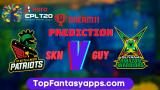 SKN vs GUY Dream11 Team Prediction For 20th Match CPL 2020 (100% Winning Team)