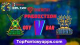 BAR vs GUY Dream11 Team Prediction For 26th Match CPL 2020 (100% Winning Team)