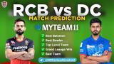 DC vs RCB MyTeam11 Fantasy Team Prediction Match-55 IPL 2020