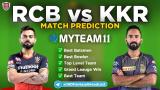 KKR vs RCB MyTeam11 Fantasy Team Prediction Match-39 IPL 2020