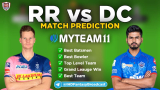 DC vs RR MyTeam11 Fantasy Team Prediction Match-30 IPL 2020