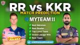 KKR vs RR MyTeam11 Fantasy Team Prediction Match-54 IPL 2020