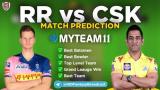 CSK vs RR MyTeam11 Fantasy Team IPL 4th Match 2020