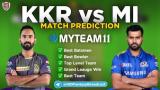 MI vs KKR MyTeam11 Team Prediction Match-05 of IPL 2020
