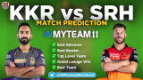 KKR vs SRH MyTeam11 Fantasy Team Prediction Match-08 IPL 2020