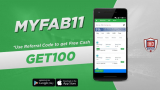 MyFab11 Referral Code: GET100, Earn Rs 100 On Signup + Refer & Earn