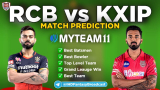 RCB vs KXIP MyTeam11 Fantasy Team Prediction Match-31 IPL 2020